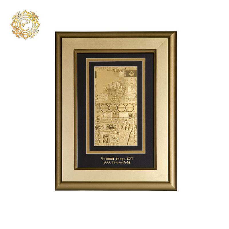 Банкнота «10 000 тенге» в рамке