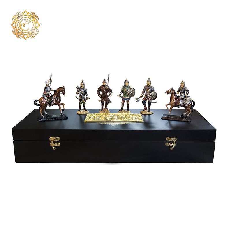 Набор из 6 статуэток «Казахские воины»