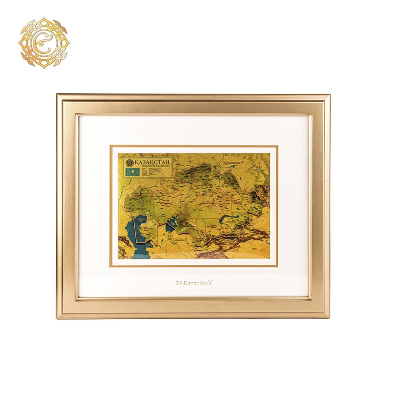 Настенное панно «Золотая карта Казахстана»