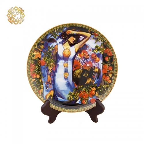 "Декоративная фарфоровая тарелка ""Анар"""